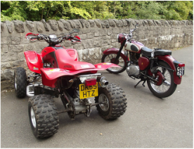 ATV and Motorcycle